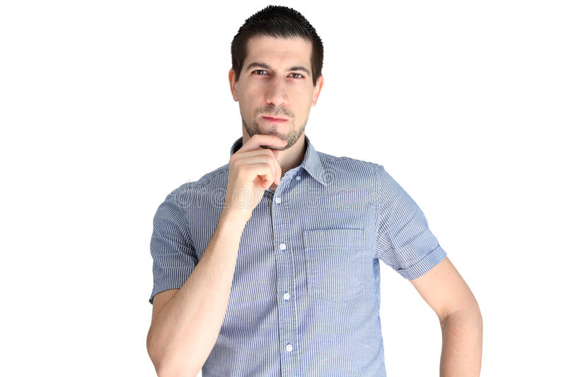 Download Attractive Casual Young Man Concentrating Stock Image - Image: 27299619