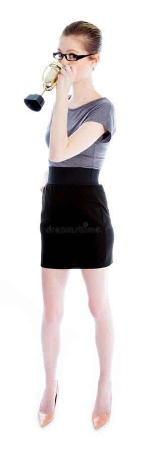 Attractive Caucasian Girl In Her 30 Shot In Studio Stock Photo