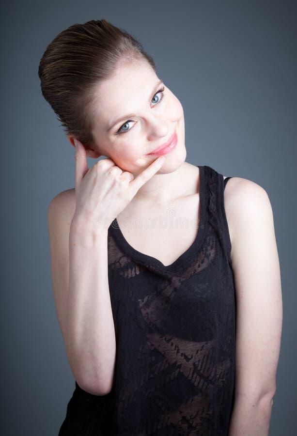 Download Attractive Caucasian Girl In Her 30 Shot In Studio Stock Image - Image: 34200763
