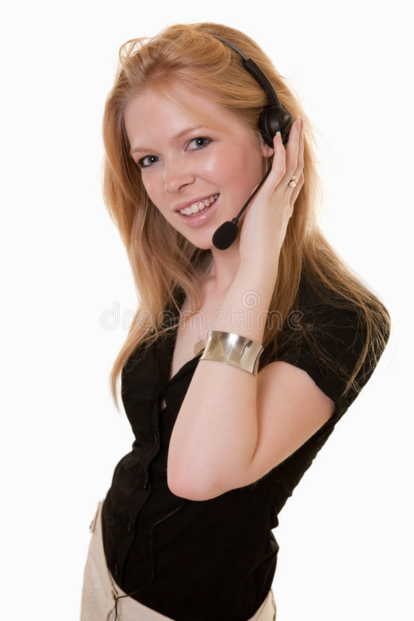 Download Attractive Caucasian Telecommunications Worker Stock Image - Image: 12360959