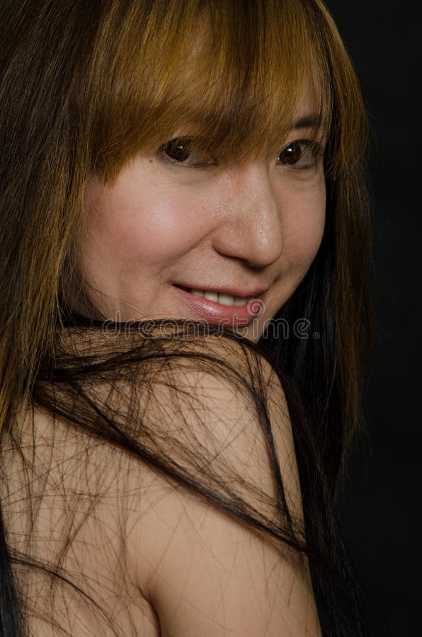 Attractive chinese forties woman
