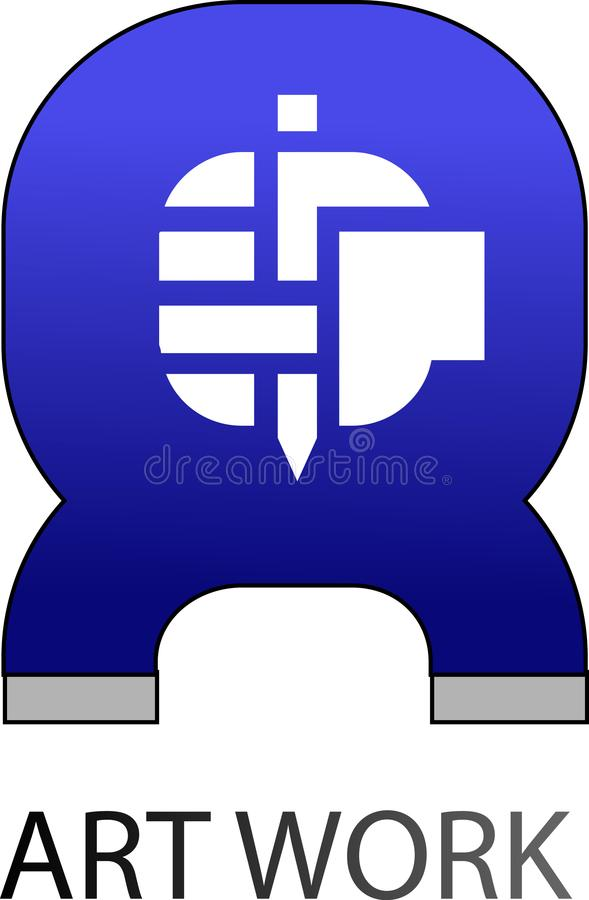 Attractive company logo. This is a company logo stock illustration