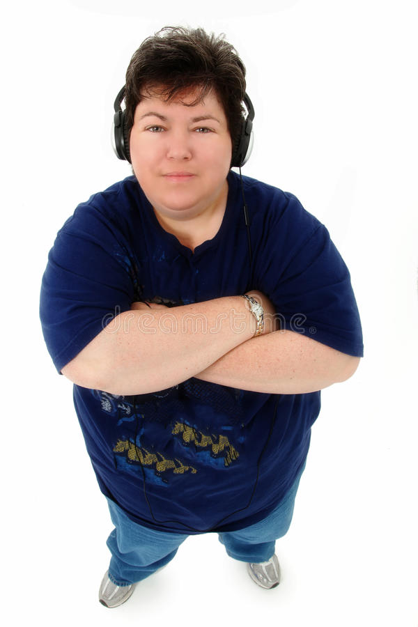 Attractive Confident Obese Older Woman royalty free stock images