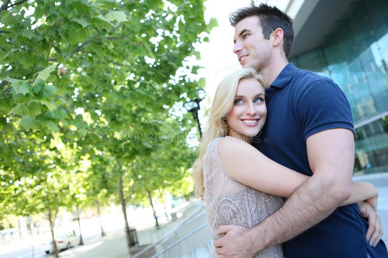 Download Attractive Couple in Love stock image. Image of green - 15233459