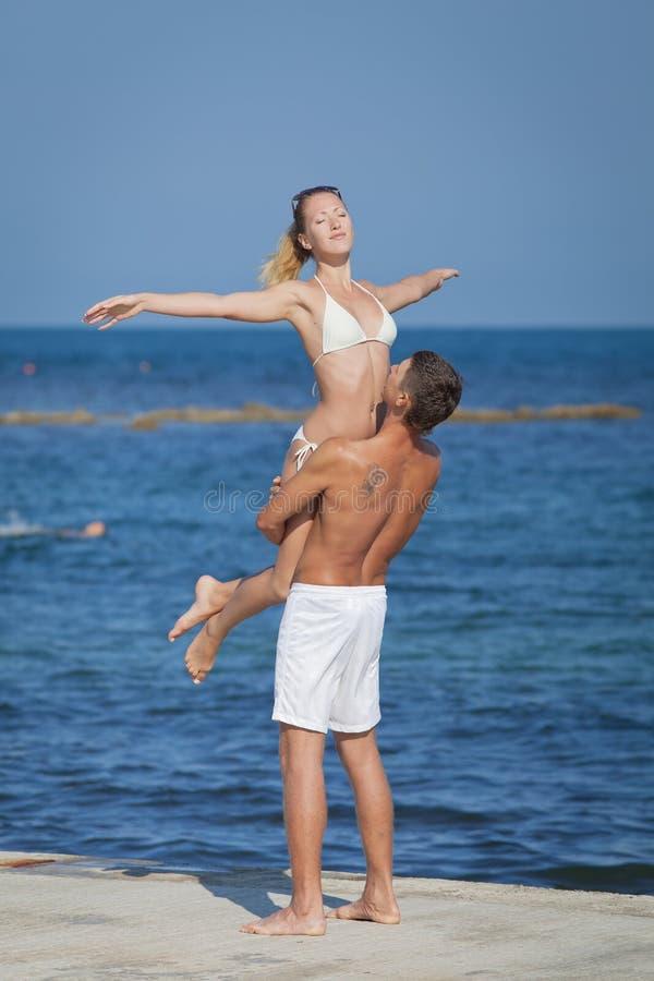 Attractive Couple At The Sea Stock Photos