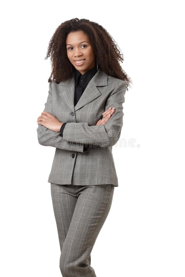Attractive Ethnic Businesswoman Smiling Stock Image