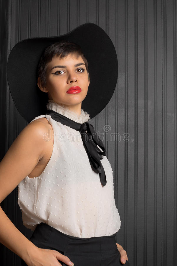 Attractive Fashionable Native American Young Adult royalty free stock photos