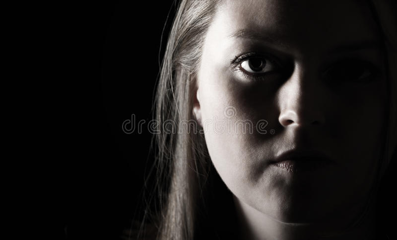 Attractive Female. Low Key Shot of an Attractive Female stock photos