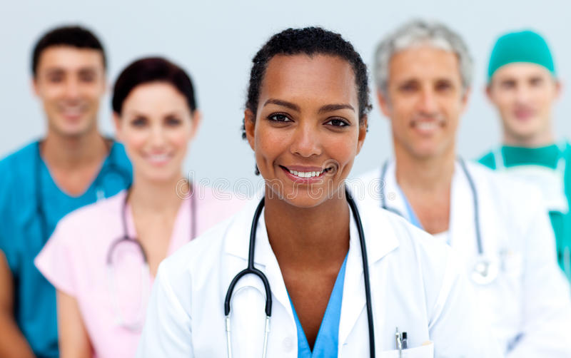 Download Attractive female Doctor stock photo. Image of hair, attractive - 12041380