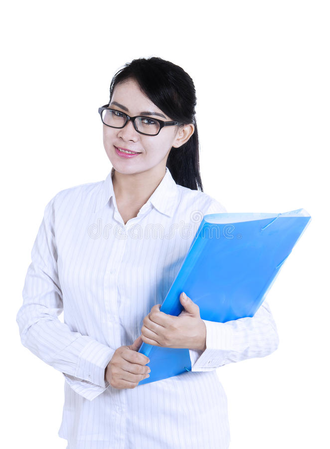 Download Attractive Female Doctor Holding Folder Stock Image - Image of health, dentist: 33321527