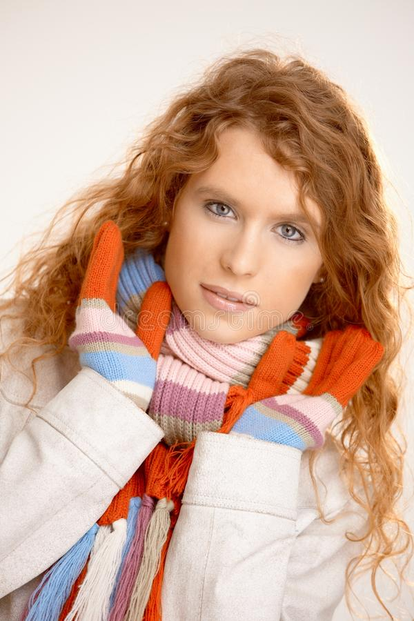 Download Attractive Female Dressed Up Warm Stock Image - Image: 16573685