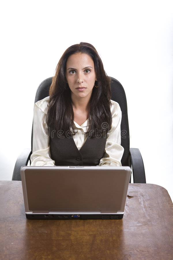 Attractive female executive. In business appropriate pose stock images