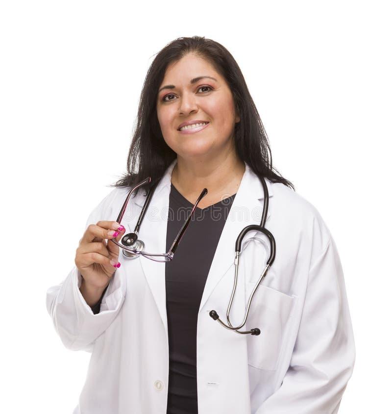Attractive Female Hispanic Doctor or Nurse stock photography