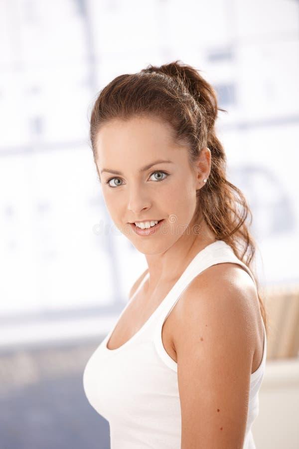 attractive female portrait smiling стоковая фотография rf