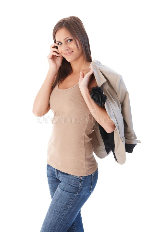 Download Attractive Female Smiling Walking Stock Photo - Image: 24456208