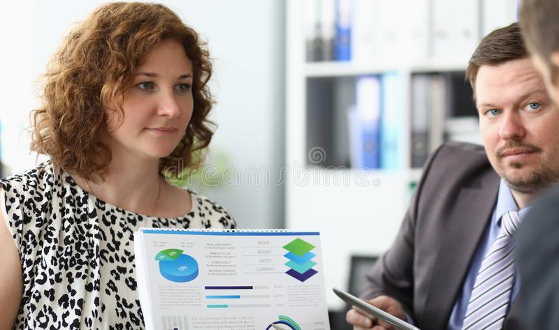 Attractive female worker stock images