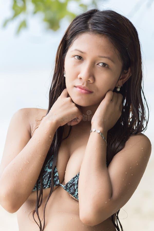 Attractive Filipina woman stock image