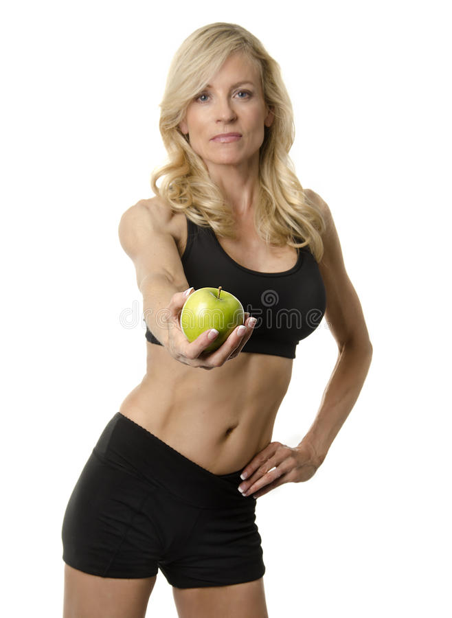 Attractive fit healthy woman stock photography