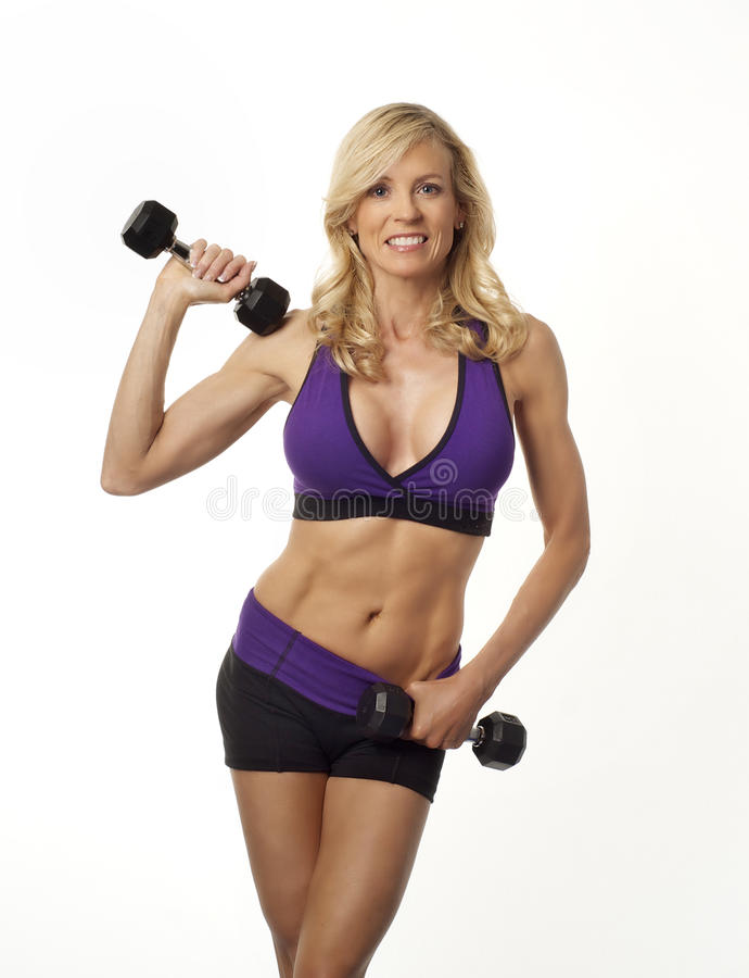 Attractive fit healthy woman royalty free stock photo