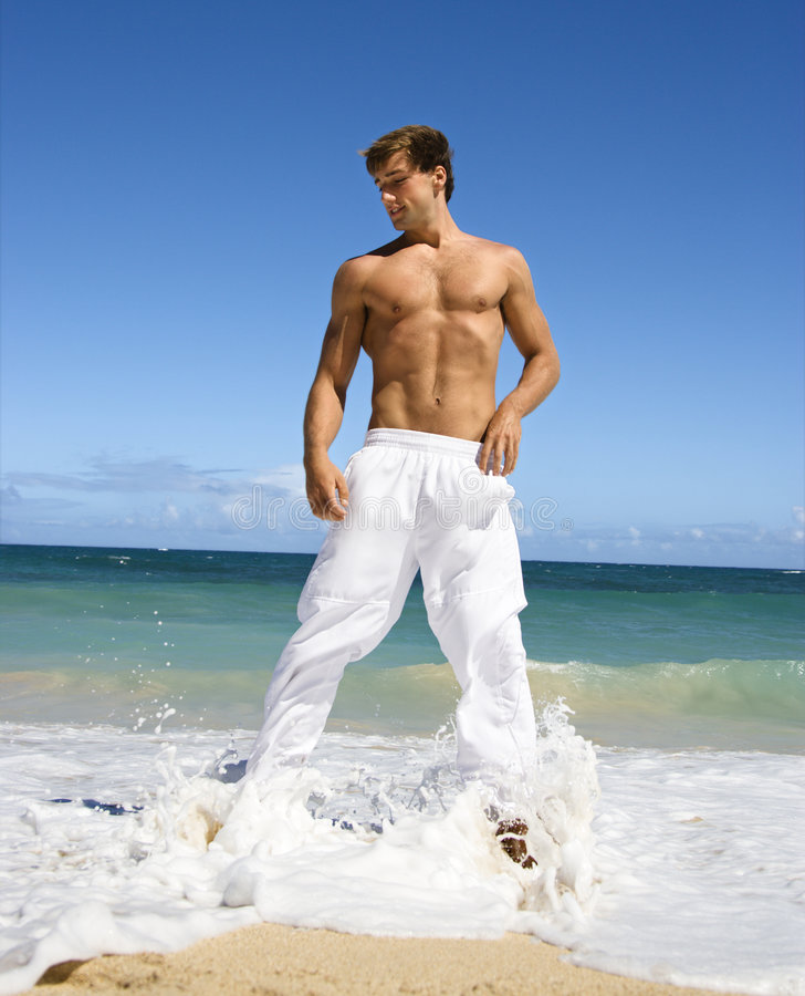 Attractive fit man. royalty free stock image