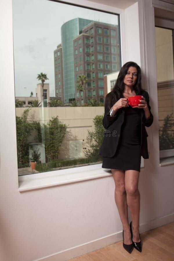 Attractive forties brunette woman