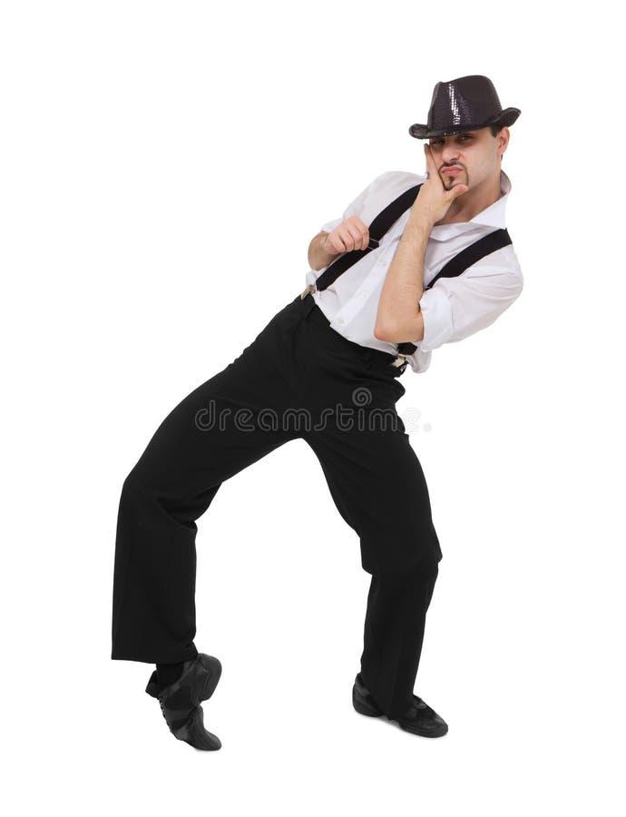 Attractive gentleman dancing stock images