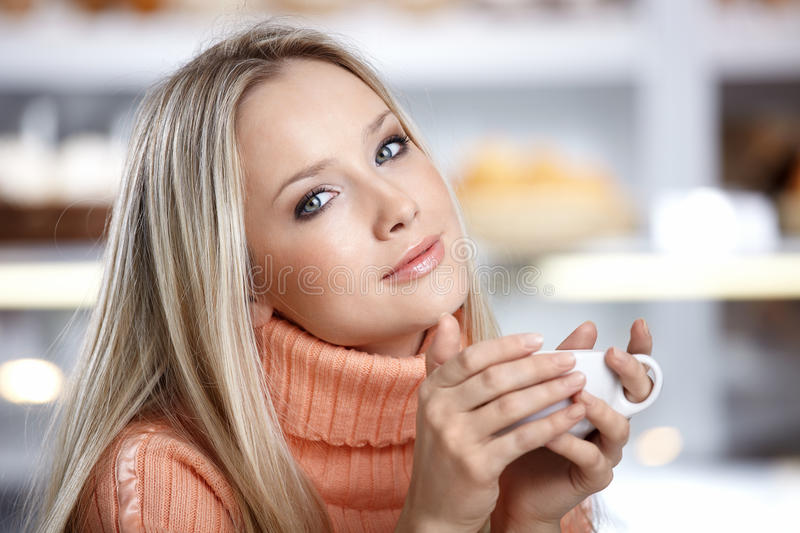 The attractive girl royalty free stock photography