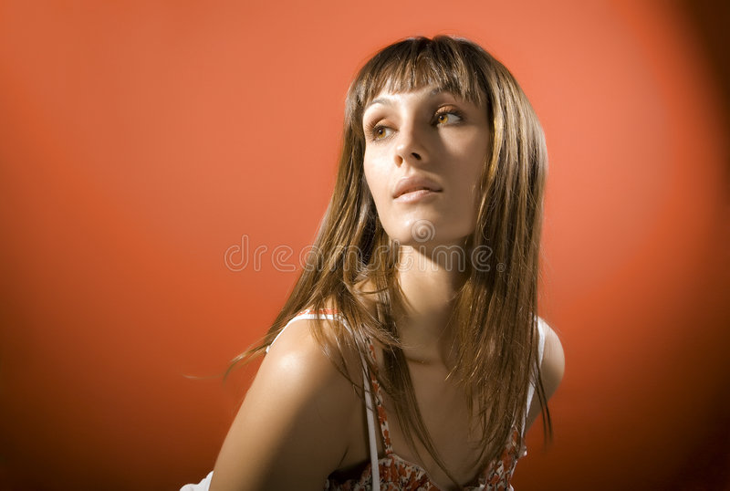 Download Attractive girl stock image. Image of brown, fiery, caucasian - 3619531