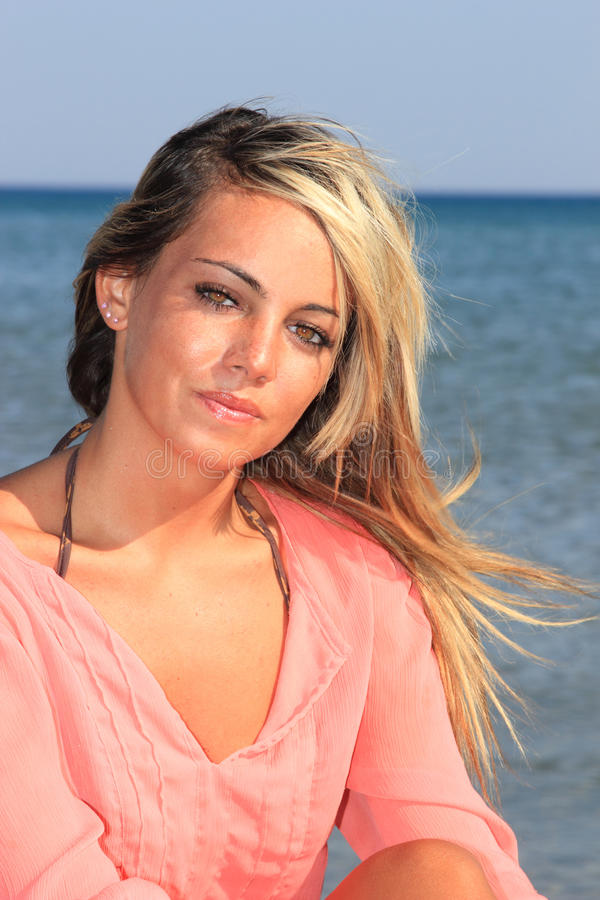 Download Attractive Girl On The Beach Stock Photo - Image: 21580358