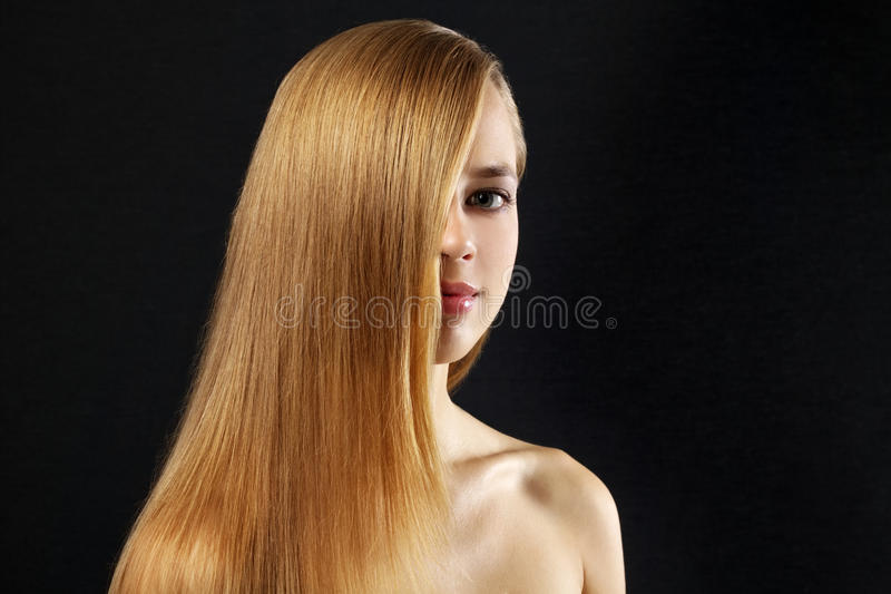 Download Attractive Girl With Beautiful, Straight Hair Stock Photography - Image: 21474392