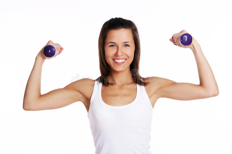 Download Attractive Girl Doing Fitness Exercises Stock Image - Image of athletic, athlete: 14851189
