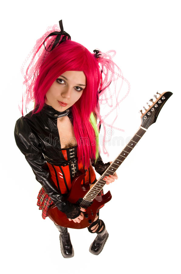Download Attractive Girl With Guitar Stock Photo - Image: 12855734