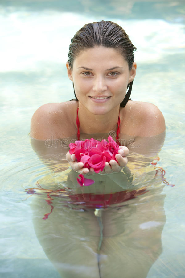 Free Attractive Girl In Water Stock Photos - 11256493