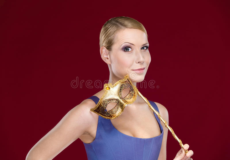 Download Attractive Girl With Masquerade Masque Royalty Free Stock Photos - Image: 26418488