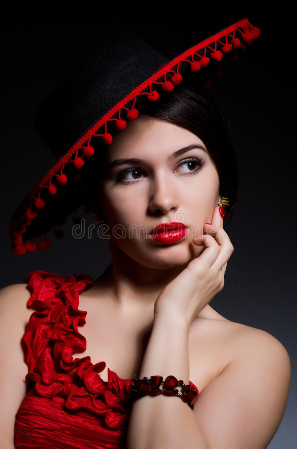 Attractive girl stock image