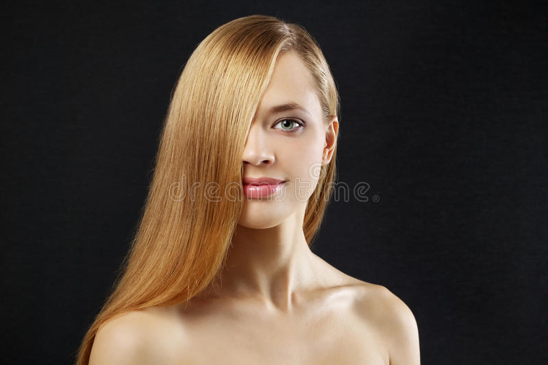 Download Attractive Girl With Straight Hair Stock Photo - Image: 21449466