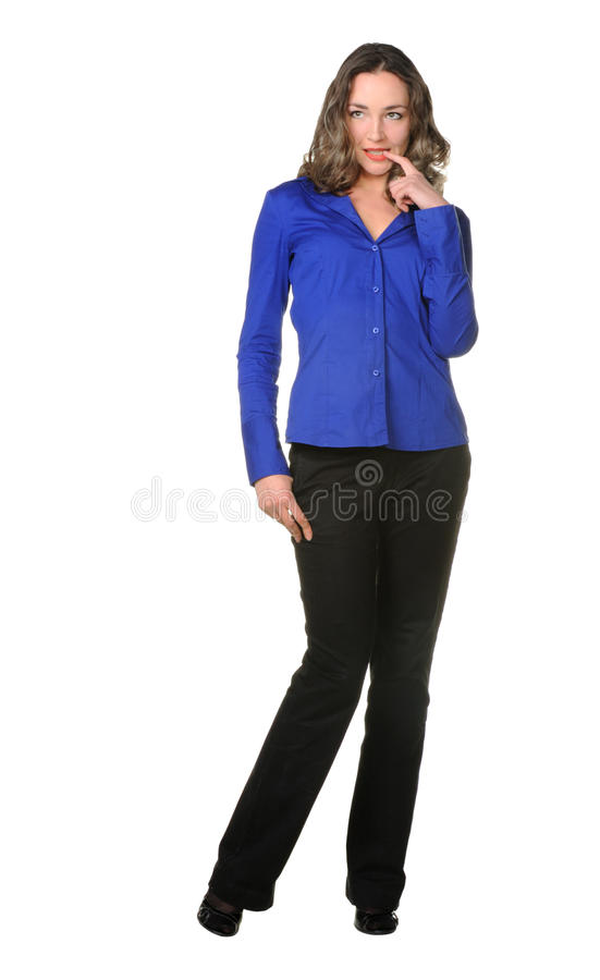 The Attractive Girl In Trousers Royalty Free Stock Images