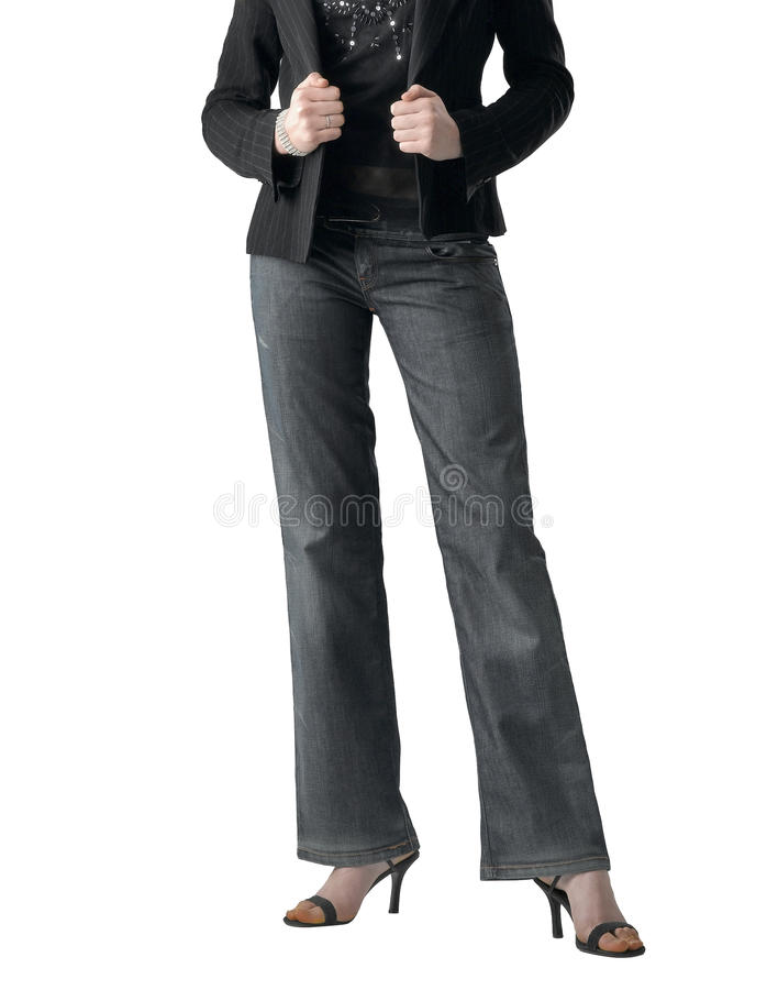 Download The Attractive Girl In Trousers Stock Images - Image: 21417434