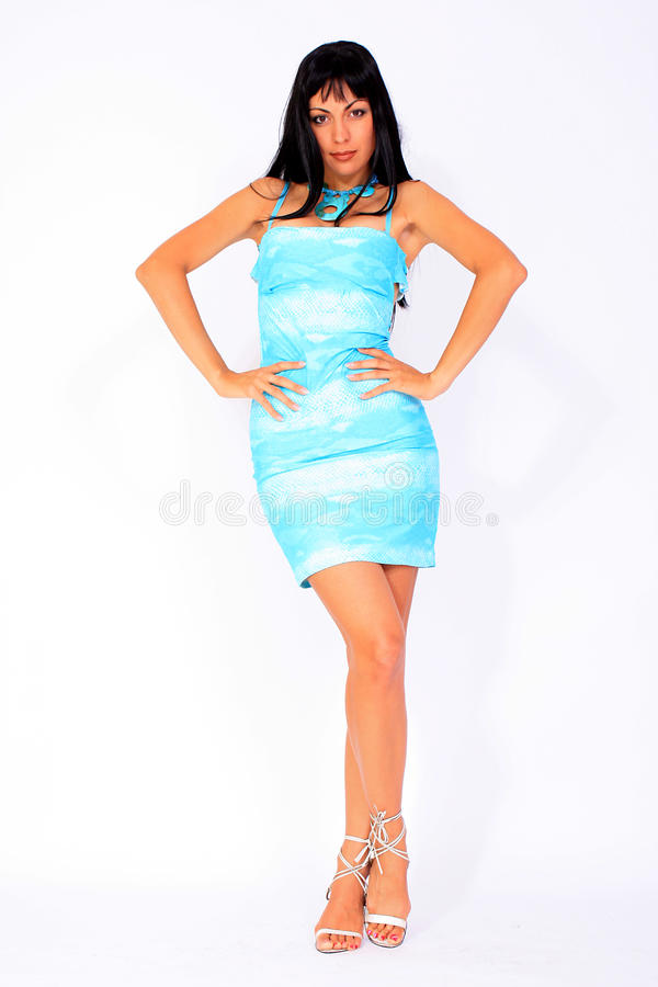 Free Attractive Girl Wearing Summer Dress Stock Photo - 15083430