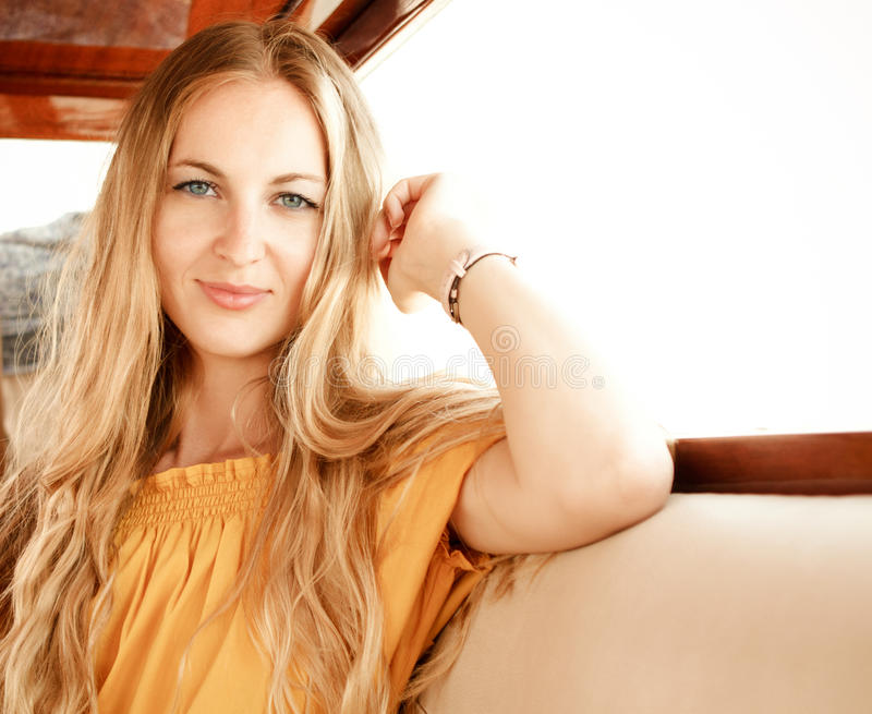 Download Attractive girl on a yacht stock photo. Image of nautical - 30243798