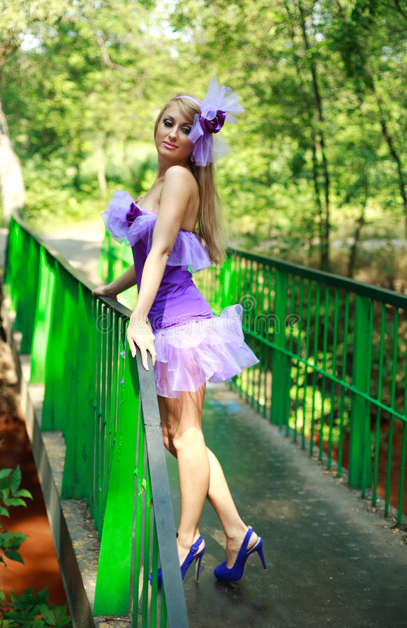 Download Attractive Glamorous Young Girl In Violet Stock Images - Image: 26274904