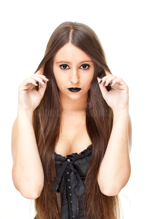 Download Attractive gothic woman stock photo. Image of makeup - 21441412