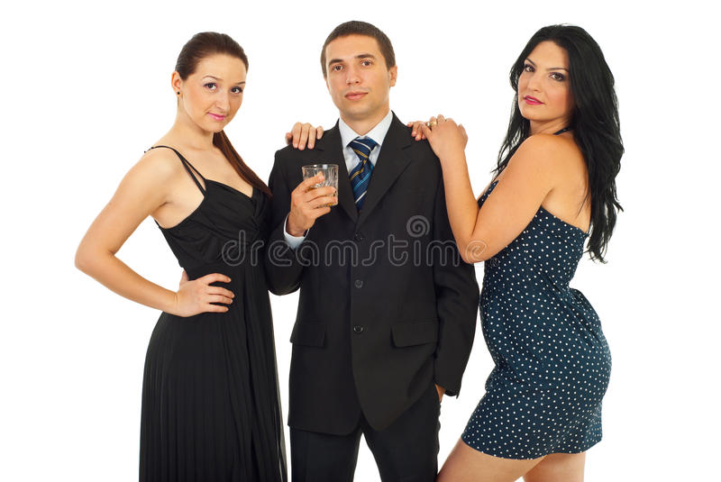Attractive group of elegant people stock image