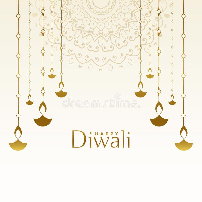 Free Attractive Happy Diwali Festival Card Design Background Stock Photography - 159084652