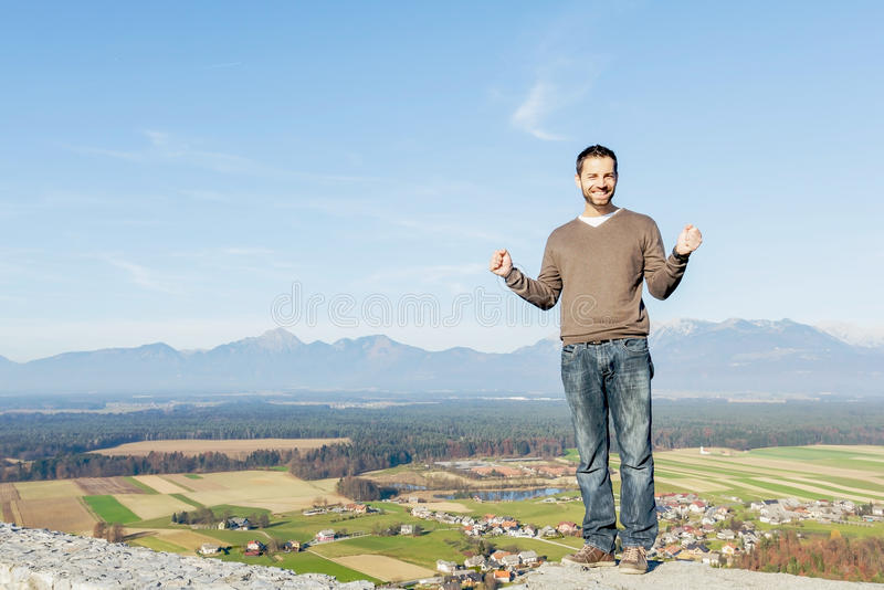 Attractive happy young man smiling royalty free stock image