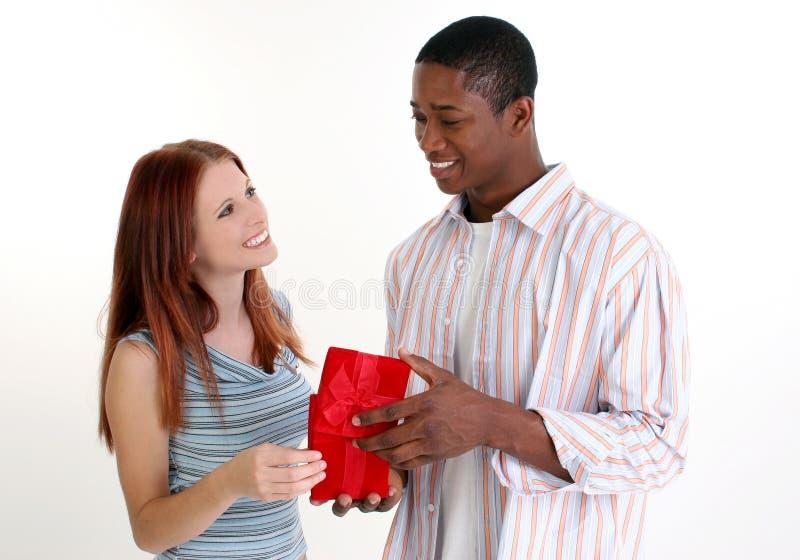 Attractive Interracial Couple royalty free stock photos