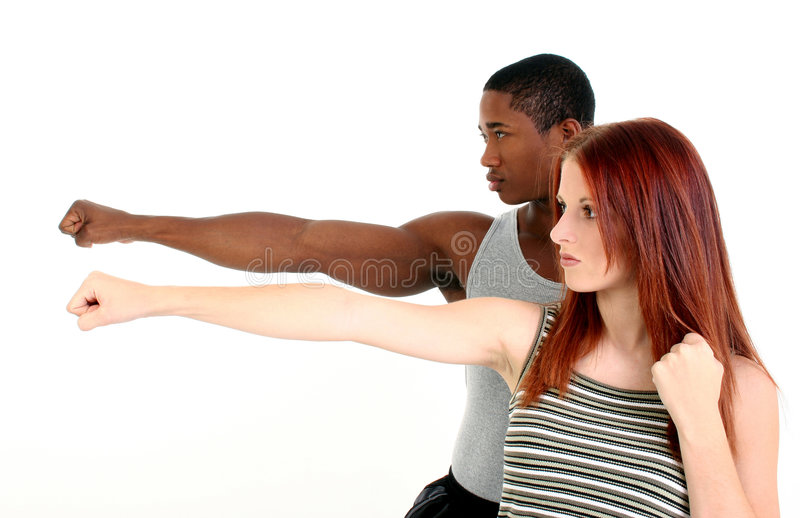 Attractive Interracial Couple royalty free stock photography