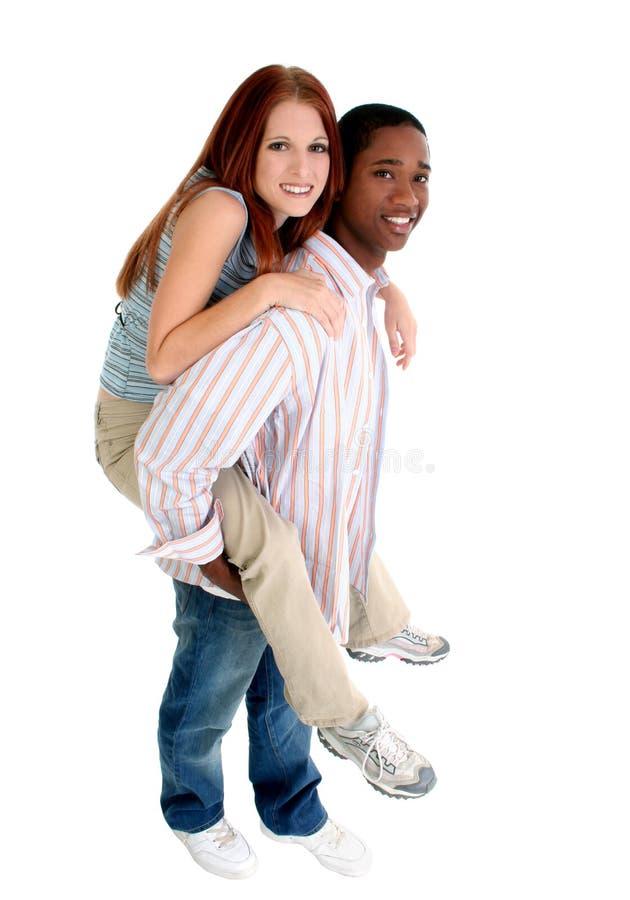 Attractive Interracial Couple stock image