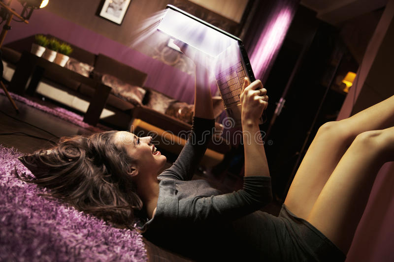 Download Attractive joyful lady stock photo. Image of casual, happy - 24160312