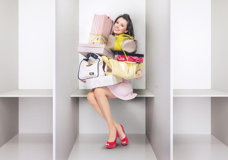 Download Attractive Lady In The Changing Room Stock Image - Image of fashion, buying: 40001267